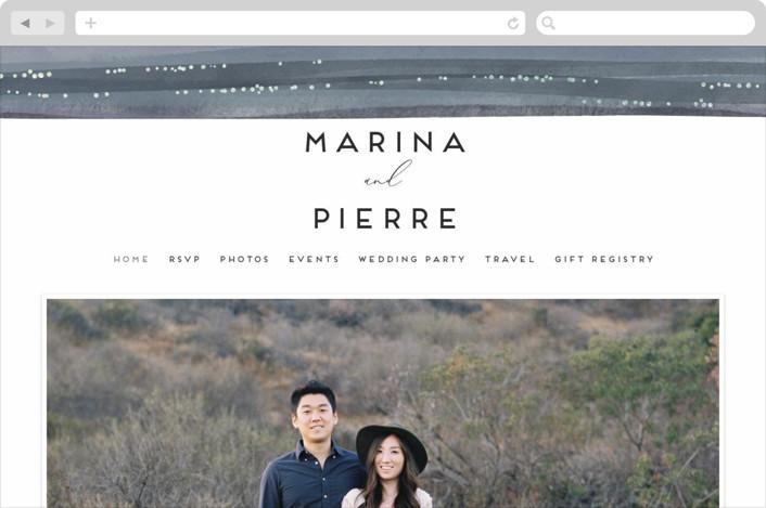 """Sparkles"" - Modern Wedding Websites in Sea by Grae Sales."