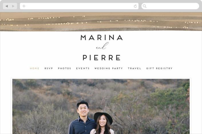 This is a brown wedding website by Grae Sales called Sparkles printing on digital paper.