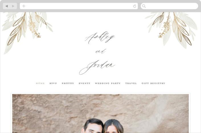 """Whispered"" - Rustic Wedding Websites in Lichen by Everett Paper Goods."
