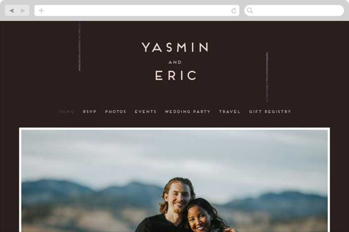 This is a black wedding website by Bonjour Berry called Our Love Story printing on digital paper.