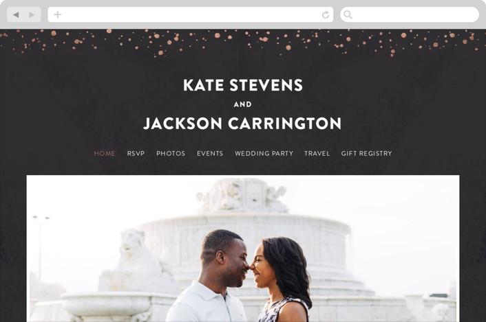 This is a black wedding website by Hooray Creative called Scripted Wedding printing on digital paper.