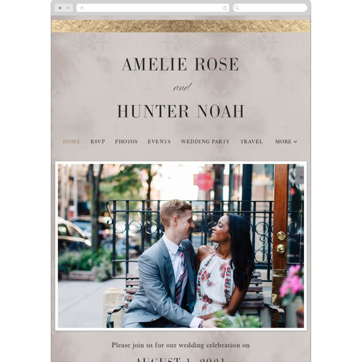 """Polished"" - Wedding Websites in Smoke by Pine and Lark."