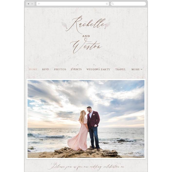"""""""Mirror, Mirror"""" - Vintage Wedding Websites in Taupe by fatfatin."""