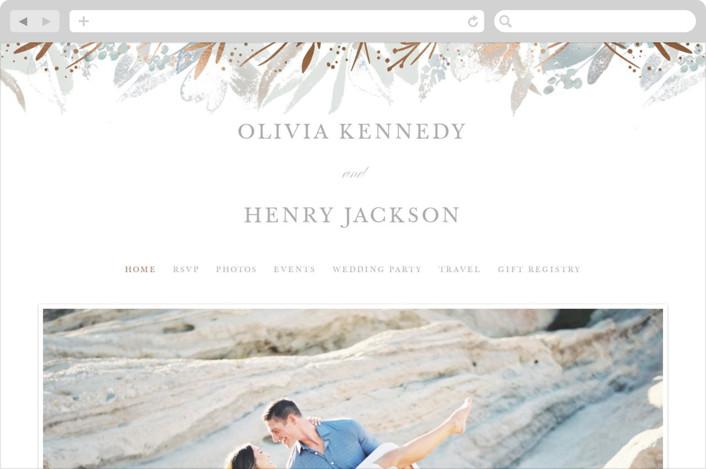 """Blooming border"" - Rustic Wedding Websites in Mettalic by Creo Study."