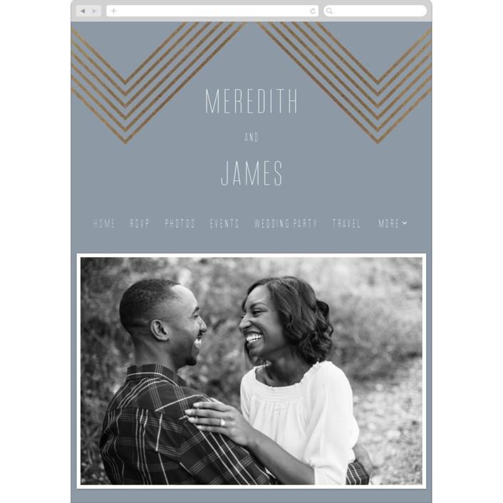 """""""Arrow"""" - Modern, Vintage Wedding Websites in Slate by Erin German Design."""