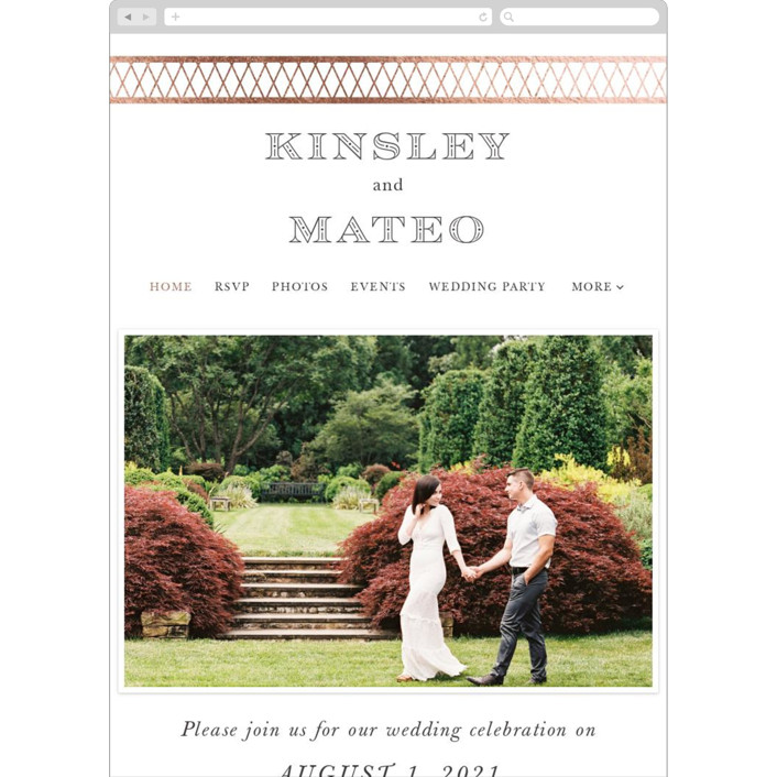 """""""Intricate"""" - Vintage Wedding Websites in Classic by Design Lotus."""