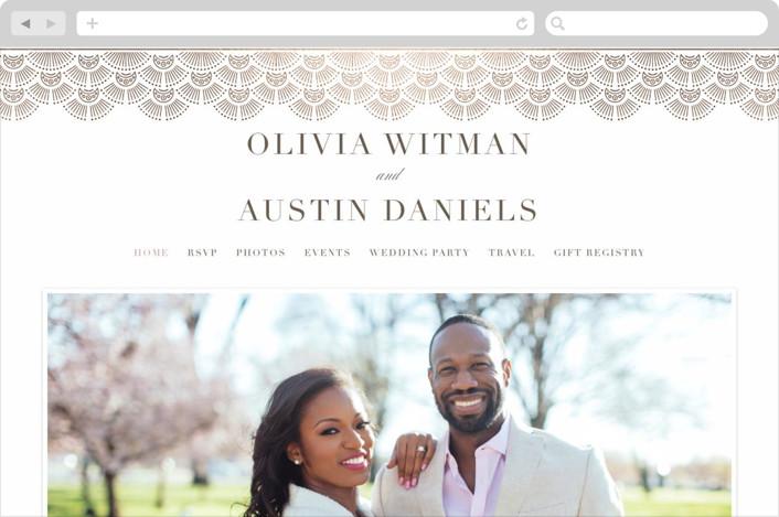 """""""Adorn"""" - Vintage Wedding Websites in Chocolate by Kristen Smith."""