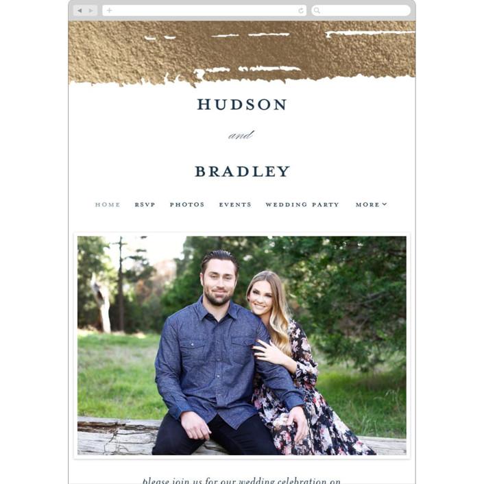 """Gala"" - Vintage Wedding Websites in Sapphire by Ashley DeMeyere."