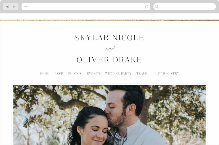 """Bianca"" - Wedding Websites in Sugar by Jessica Williams."