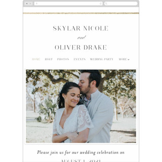 This is a white wedding website by Jessica Williams called Bianca printing on digital paper.