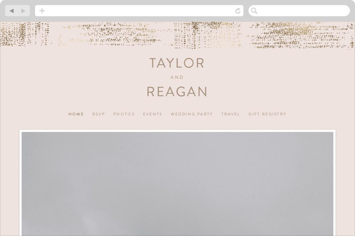 This is a pink wedding website by Phrosne Ras called stippels printing on digital paper.