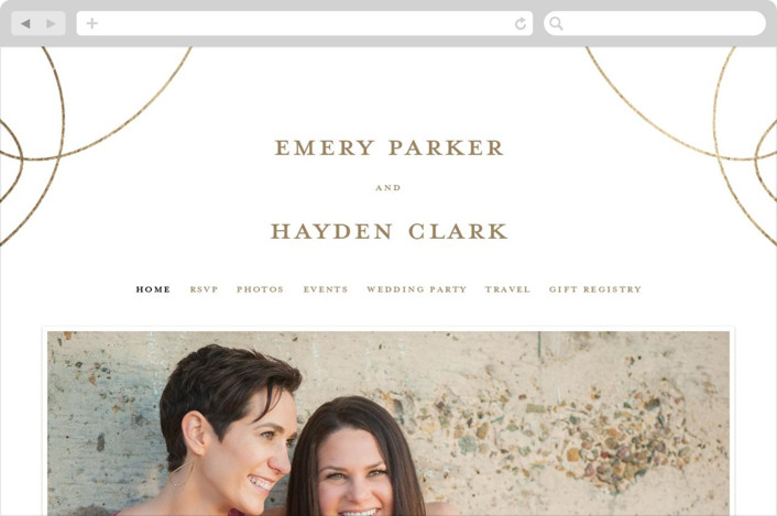 """Loop"" - Wedding Websites in Medallion by Ink and Letter."