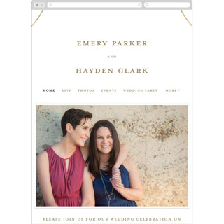 This is a gold wedding website by Ink and Letter called Loop printing on digital paper.
