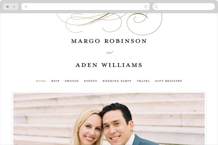 """clean and classic"" - Wedding Websites in Ivory by Laura Hamm."