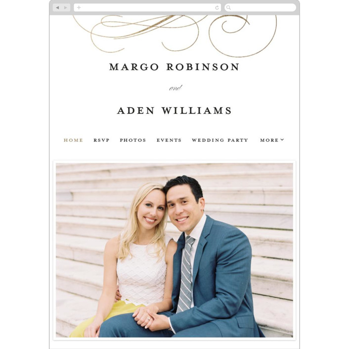 """""""clean and classic"""" - Wedding Websites in Ivory by Laura Hamm."""