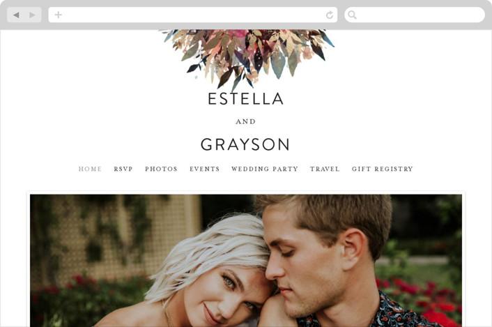 """Flourishing Edge"" - Rustic Wedding Websites in Jewels by Grace Kreinbrink."