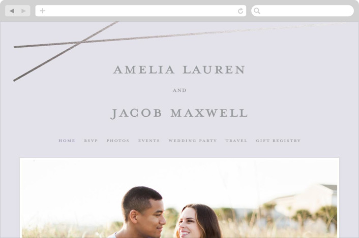 This is a grey wedding website by Emily Betts called Minimal Shine printing on digital paper.