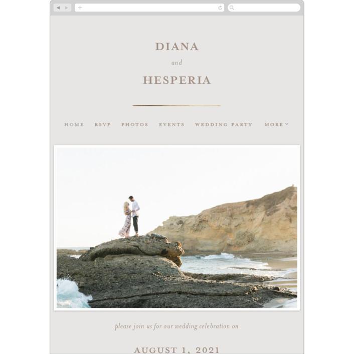 """""""Lydra"""" - Wedding Websites in Magnolia by elena diaz."""