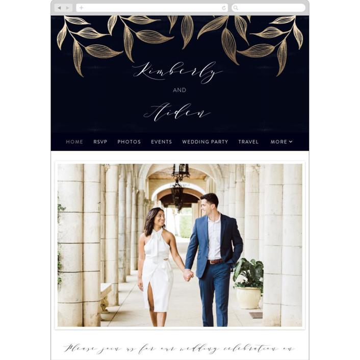 """Elegance"" - Rustic Wedding Websites in Sapphire by Roopali."