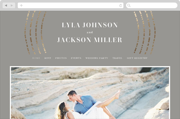 This is a grey wedding website by Michelle Taylor called Luminosity printing on digital paper.