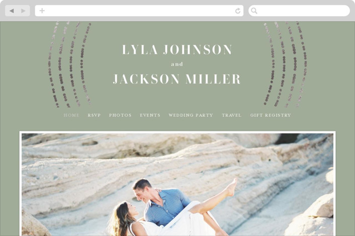 This is a green wedding website by Michelle Taylor called Luminosity printing on digital paper.
