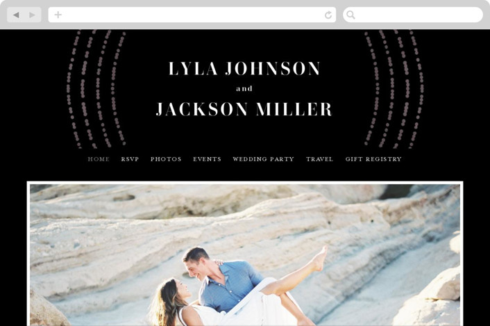 This is a black wedding website by Michelle Taylor called Luminosity printing on digital paper.