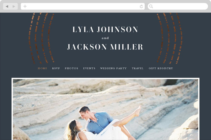 This is a blue wedding website by Michelle Taylor called Luminosity printing on digital paper.