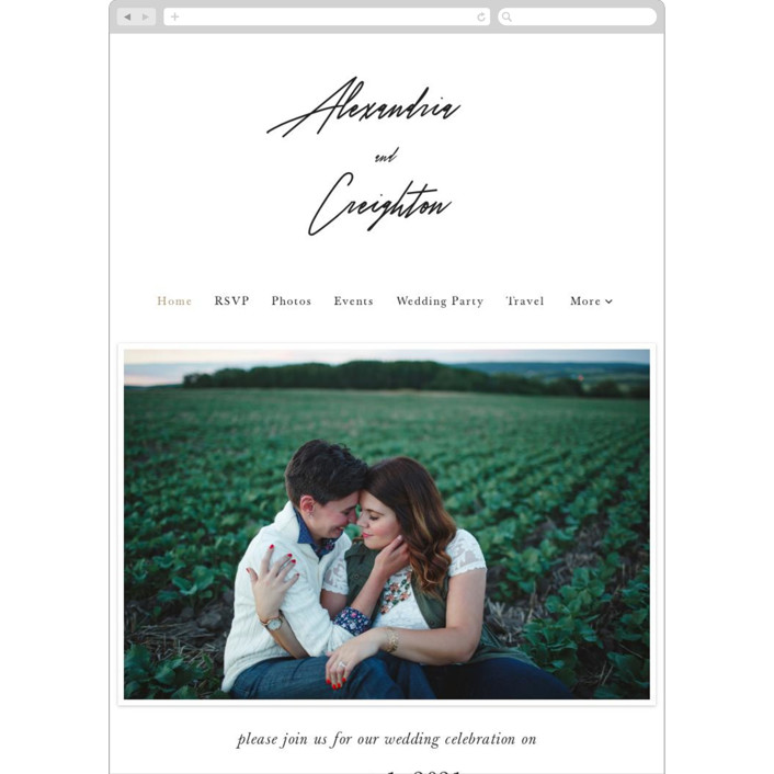 """""""parallel lines"""" - Wedding Websites in Blanc by Faith Dorn."""