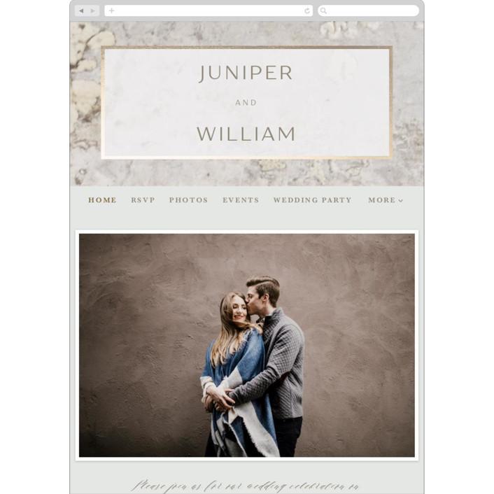 """Juniper"" - Modern Wedding Websites in Cream by Basil Design Studio."