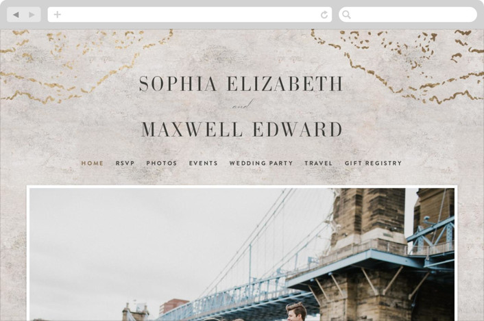 """Sophia"" - Modern Wedding Websites in Latte by Basil Design Studio."