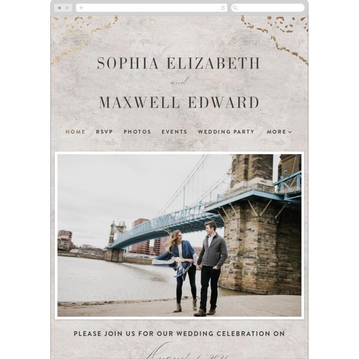 """Sophia"" - Modern Wedding Websites in Latte by Basil Design Studio."