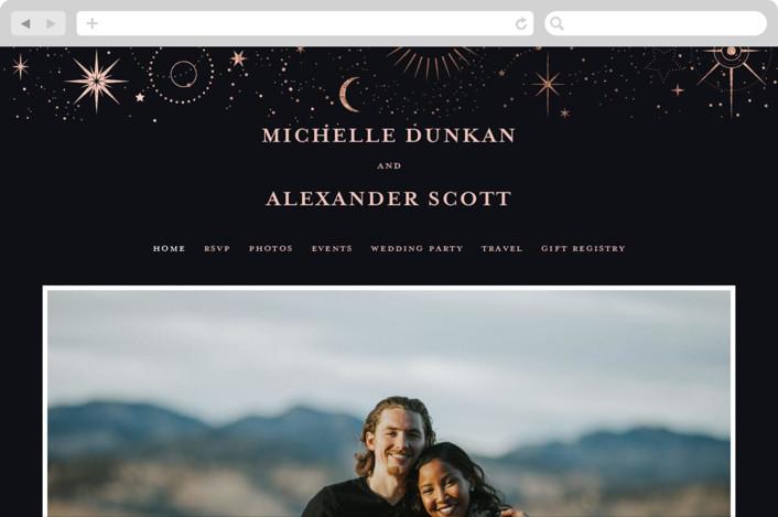"""look at the stars"" - Bohemian Wedding Websites in Midnight by Anastasia Makarova."