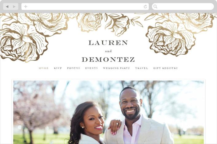 """""""Beautiful Bouquet"""" - Rustic Wedding Websites in Slate by Jennifer Postorino."""