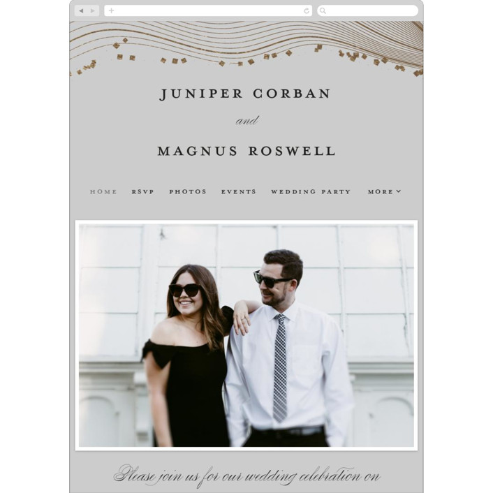 """""""Ethereal Romance"""" - Modern Wedding Websites in Stone by Bonjour Berry."""