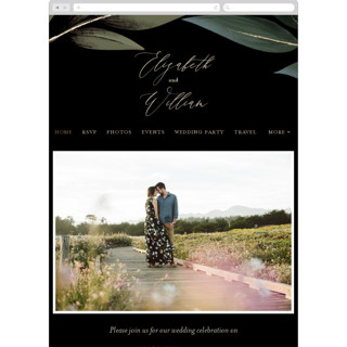 This is a black wedding website by Susan Moyal called Cascading Vine printing on digital paper.