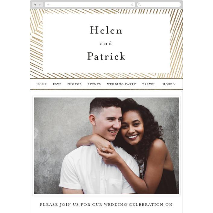 """""""Lineup"""" - Modern Wedding Websites in Linen by Annie Shapiro."""