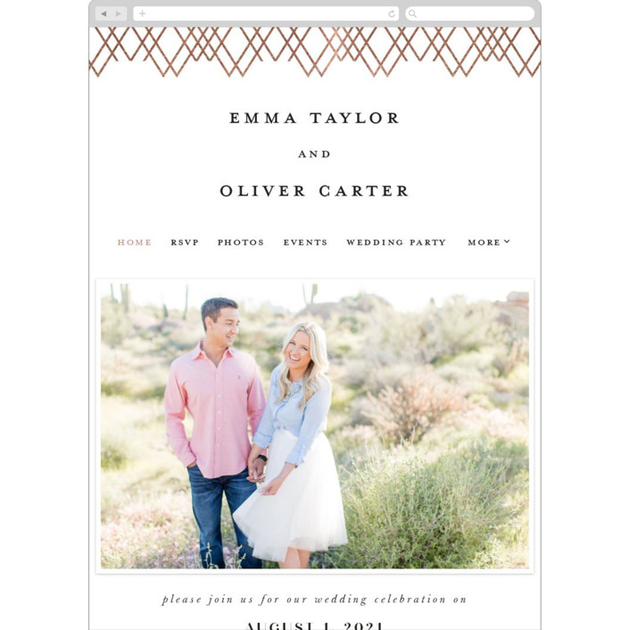 """""""Picture Perfect"""" - Wedding Websites in Rose by Creo Study."""
