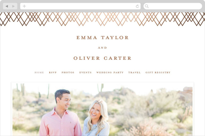 This is a orange wedding website by Creo Study called Picture Perfect printing on digital paper.