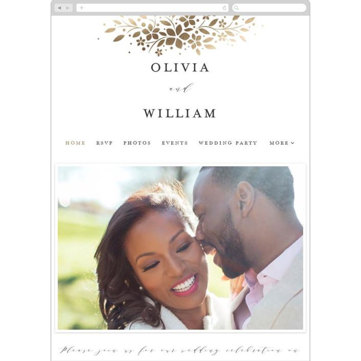 """trellis"" - Rustic Wedding Websites in Flaxen by Melanie Kosuge."