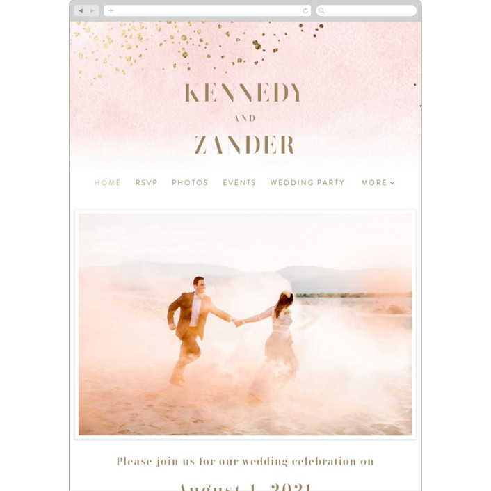 """Zara"" - Wedding Websites in Blush by Kristie Kern."