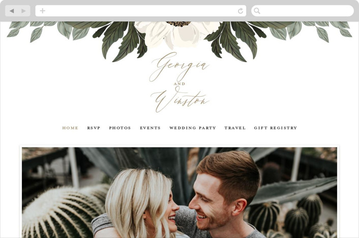 This is a green wedding website by Susan Moyal called Floral Sweep printing on digital paper.