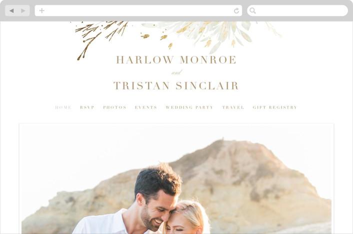 """""""Fields"""" - Wedding Websites in Leaf by Kristie Kern."""