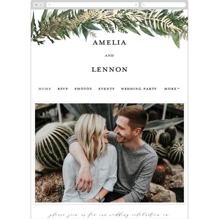 """Fresh Vines"" - Rustic Wedding Websites in Fern by Susan Moyal."