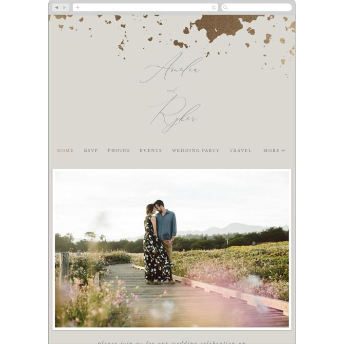 """Fresco"" - Modern Wedding Websites in Plaster by Robert and Stella."
