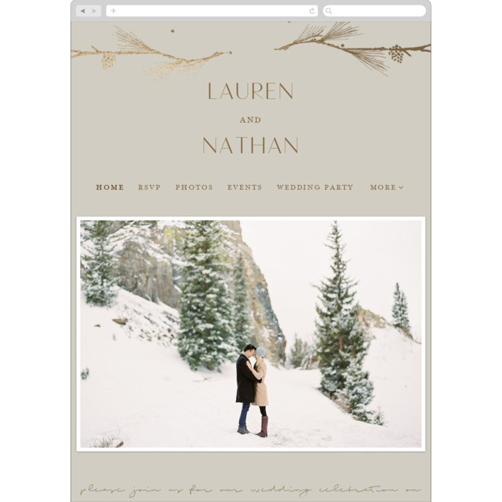 """""""Burnished"""" - Rustic Wedding Websites in Smoky by Susan Brown."""
