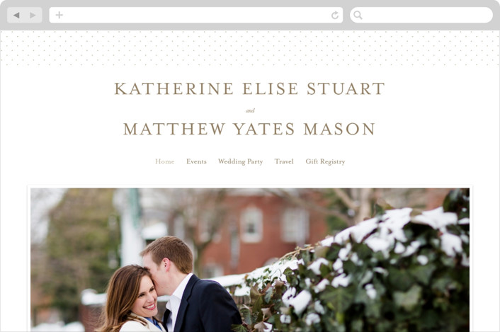 """A Glamorous Affair"" - Wedding Websites in Gold by Kristen Smith."