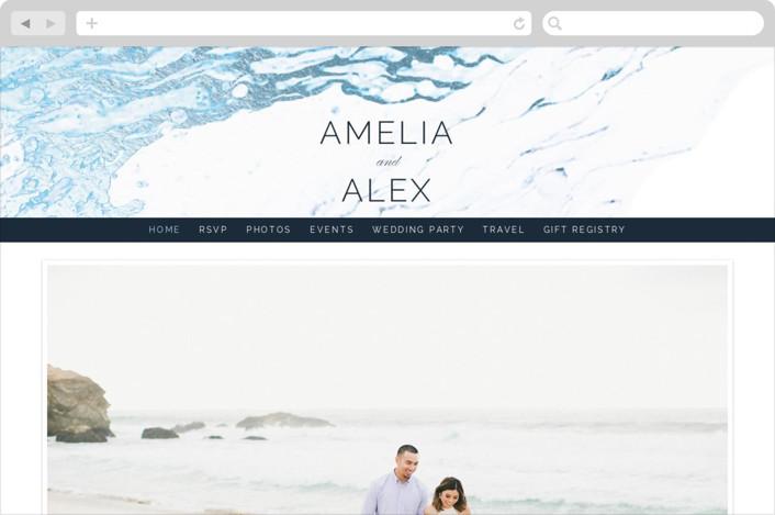 """Classic Splash"" - Wedding Websites in Navy by kbecca."