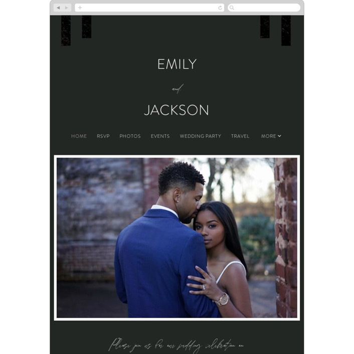 """""""City View"""" - Wedding Websites in Midnight by Erika Firm."""