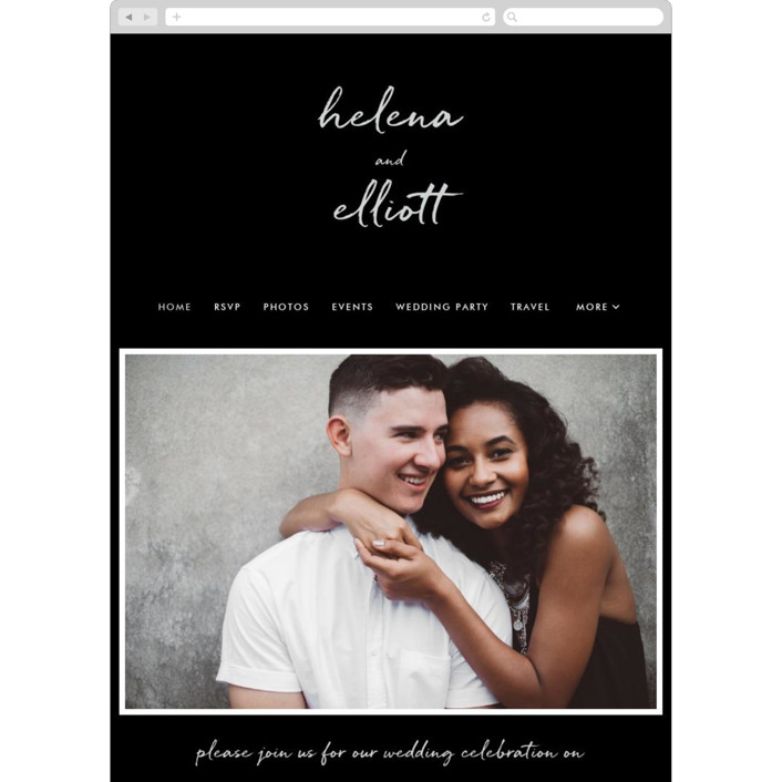 """Modern Gallery"" - Wedding Websites in Obsidian by Laura Condouris."