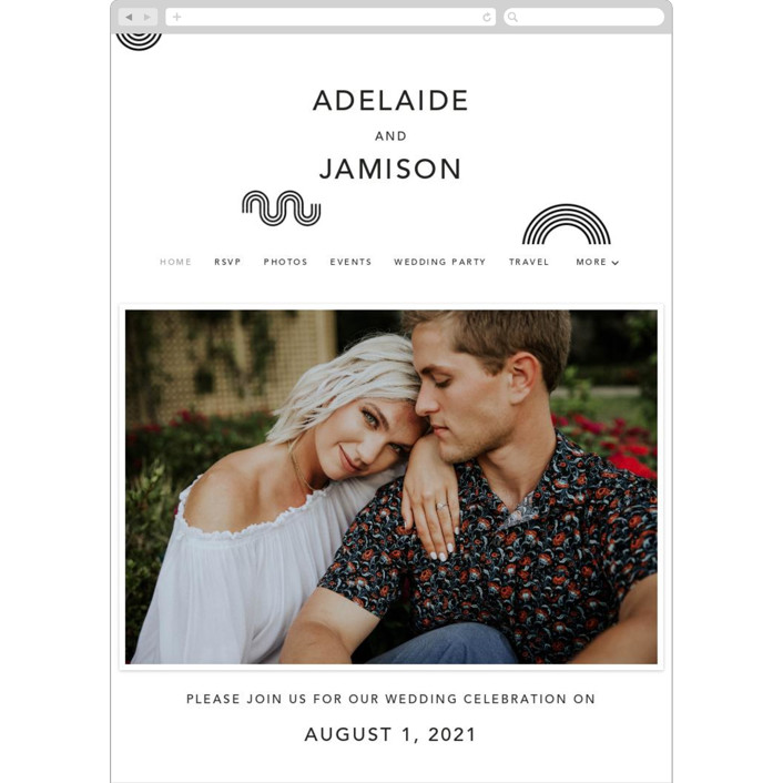 """""""Connected"""" - Modern Wedding Websites in Tuxedo by Kelsey Mucci."""
